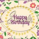 "Happy Birthday #17 ~ Horizontal  ~ 6"" X 8"" Foil Pan Lid Cover"
