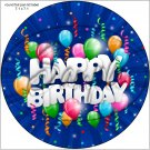 """Happy Birthday #9 ~ 7"""" Round Foil Pan Lid Cover"""