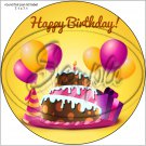 """Happy Birthday #14 ~ 7"""" Round Foil Pan Lid Cover"""