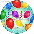 """Happy Birthday #15 ~ 7"""" Round Foil Pan Lid Cover"""