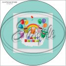 """Happy Birthday #17 ~ 7"""" Round Foil Pan Lid Cover"""