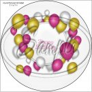 """Happy Birthday #18 ~ 7"""" Round Foil Pan Lid Cover"""