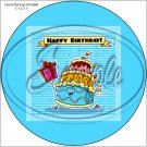 """Happy Birthday #19 ~ 7"""" Round Foil Pan Lid Cover"""