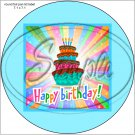 """Happy Birthday #22B ~ 7"""" Round Foil Pan Lid Cover"""