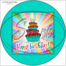 "Happy Birthday #22C ~ 7"" Round Foil Pan Lid Cover"