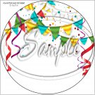 """Happy Birthday #27A ~ 7"""" Round Foil Pan Lid Cover"""