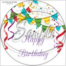 """Happy Birthday #27B ~ 7"""" Round Foil Pan Lid Cover"""