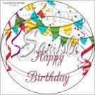 "Happy Birthday #27C ~ 7"" Round Foil Pan Lid Cover"