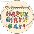 "Happy Birthday #30 ~ 7"" Round Foil Pan Lid Cover"