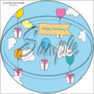 """Happy Birthday #32 ~ 7"""" Round Foil Pan Lid Cover"""
