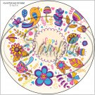 """Happy Birthday #34 ~ 7"""" Round Foil Pan Lid Cover"""