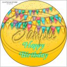 "Happy Birthday #35D ~ 7"" Round Foil Pan Lid Cover"