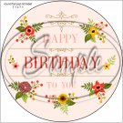 """Happy Birthday #51 ~ 7"""" Round Foil Pan Lid Cover"""