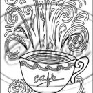 """Adult Coloring ~ Coffee ~ Vertical ~ 6"""" X 8"""" Foil Pan Lid Cover"""