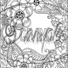 """Adult Coloring ~ Giving ~ Vertical ~ 6"""" X 8"""" Foil Pan Lid Cover"""