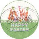 Happy Easter Bunnies ~ Cupcake Toppers ~ Set of 1 Dozen
