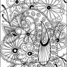 "Adult Coloring ~ Paisley Flowers ~ Vertical ~ 6"" X 8"" Foil Pan Lid Cover"