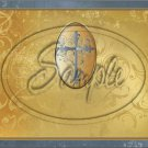 """Gold with Puter Cross ~ Horizontal  ~ 6"""" X 8"""" Foil Pan Lid Cover"""