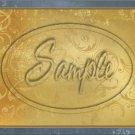 "Gold Emobssed ~ Horizontal  ~ 6"" X 8"" Foil Pan Lid Cover"