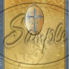 """Gold with Puter Cross Sympathy ~ Vertical ~ 6"""" X 8"""" Foil Pan Lid Cover"""