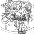 "Adult Coloring ~ Thankful ~ Vertical ~ 6"" X 8"" Foil Pan Lid Cover"
