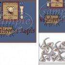Angels Primitive Treat Bag Topper ~ Personalize It (Optional) ~ 1 Dozen
