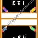 School Days Treat Bag Toppers~ Chalkboard ~ Personalize It 1 Dozen