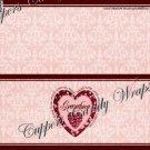 Treat Bag Toppers~ Love Grandma Pink 1 Dozen