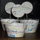 Your Business Logo ~ Cupcake Topper & Wrapper Set ~ Set of 1 Dozen