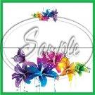Colorful Lilies Floral ~ Green ~ 1 Dozen ~ Treat Bag Topper