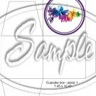 Colorful Lilies Purple ~ Floral  ~ Cupcake Box ~ 1 Dozen