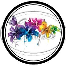 Colorful Lilies ~ Black  ~ Cupcake Toppers ~ Set of 1 Dozen