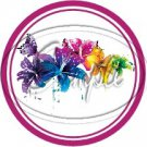 Colorful Lilies ~ Pink~ Cupcake Toppers ~ Set of 1 Dozen