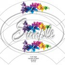 Colorful Lilies ~ Straight Edge ~ Scallop Cupcake Wrappers ~ Set of 1 Dozen