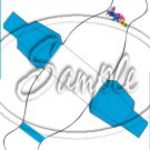 Colorful Lilies ~ Turquoise Ribbon ~ Dress ~ Party Favor Totes, Bags & Boxes