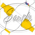 Colorful Lilies ~ Yellow Ribbon ~ Dress ~ Party Favor Totes, Bags & Boxes