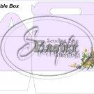 Lavender Easter Blessings ~ MINI Gable Gift or Snack Box