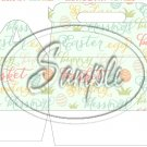 Easter Collage Green ~ Gable Gift or Snack Box