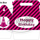 Construction Pink Traffic Cone Happy Birthday   ~ Gable Gift or Snack Box