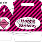 Construction Pink Under Construction Sign Happy Birthday   ~ Gable Gift or Snack Box