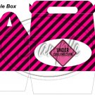 Construction Pink Under Construction Sign ~ MINI Gable Gift or Snack Box