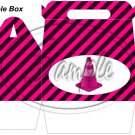 Construction Pink Traffic Cone ~ MINI Gable Gift or Snack Box