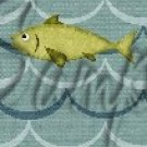 Gone Fishing Fish Waves Green Trout  ~ MINI Candy Bar Wrappers 1 DOZEN