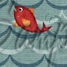 Gone Fishing Fish Waves Red Fish Salmon  ~ MINI Candy Bar Wrappers EACH