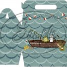Gone Fishing Fish Waves Boat & Gear ~ Gable Gift or Snack Box