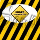 Construction Yellow Sign ~ MINI Candy Bar Wrappers EACH