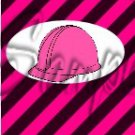 Construction Pink Hard Hat ~ MINI Candy Bar Wrappers EACH