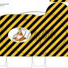 Construction Yellow Traffic Cone ~ Round Top Pinch Treat or Gift Box ~ 1 DOZEN