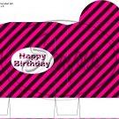 Construction Pink Happy Birthday ~ Round Top Pinch Treat or Gift Box ~ 1 DOZEN