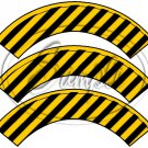 Construction Yellow Blank ~ Cupcake Wrappers ~ Set of 1 Dozen